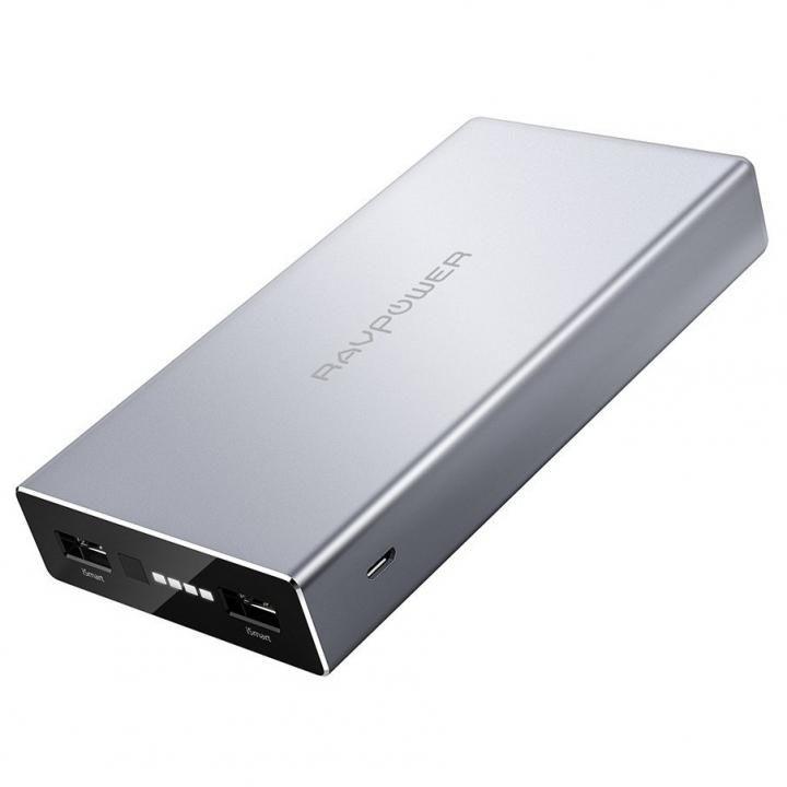 RAVPOWER ポルシェデザイン RP-PB062 モバイルバッテリー 大容量 [20100mAh] シルバー_0