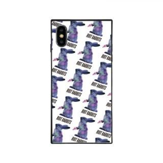 iPhone XS Max ケース MILKBOY RIOT RABBITS スクエア型 ガラスケース PTN WHT iPhone XS Max【9月下旬】