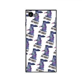 iPhone8/7 ケース MILKBOY RIOT RABBITS スクエア型 ガラスケース PTN WHT iPhone 8/7
