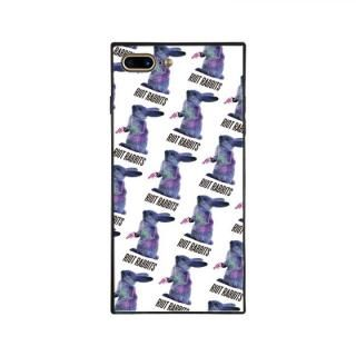 iPhone8 Plus/7 Plus ケース MILKBOY RIOT RABBITS スクエア型 ガラスケース PTN WHT iPhone 8 Plus/7 Plus