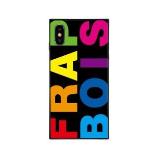 iPhone XS/X ケース FRAPBOIS FRAPBOIS スクエア型 ガラスケース RAINBOW iPhone XS/X【7月中旬】
