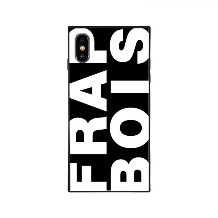 iPhone XS/X ケース FRAPBOIS FRAPBOIS スクエア型 ガラスケース BLACK iPhone XS/X【9月上旬】_0