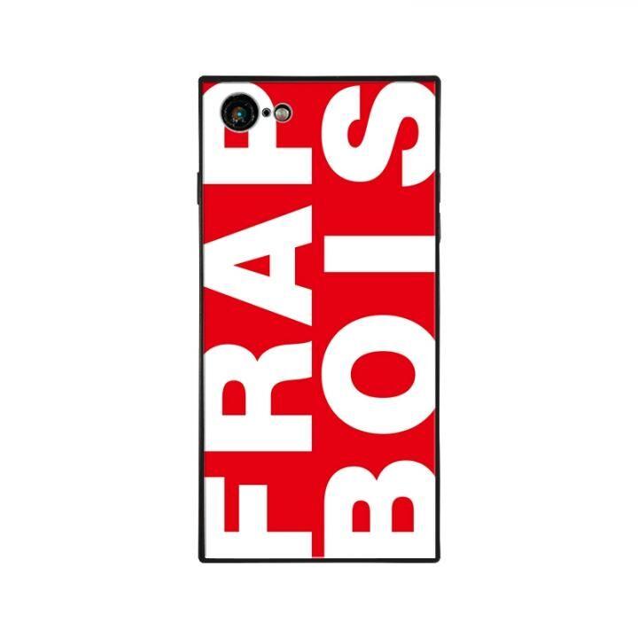 iPhone8/7 ケース FRAPBOIS FRAPBOIS スクエア型 ガラスケース RED iPhone 8/7【8月下旬】_0