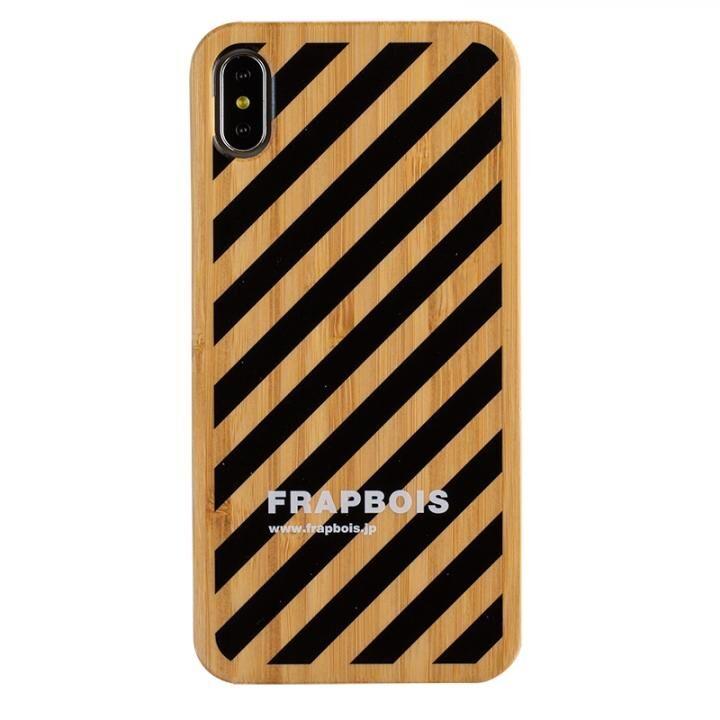 iPhone XS Max ケース FRAPBOIS BAMBOO(竹)ケース STRIPE BLK iPhone XS Max【2020年1月中旬】_0