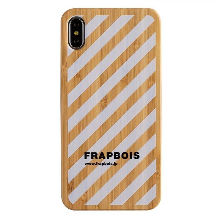 iPhone XS Max ケース FRAPBOIS BAMBOO(竹)ケース STRIPE WHT iPhone XS Max_0