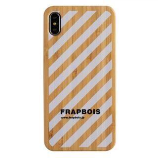 iPhone XS Max ケース FRAPBOIS BAMBOO(竹)ケース STRIPE WHT iPhone XS Max
