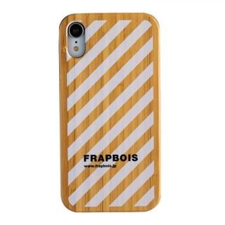 iPhone XR ケース FRAPBOIS BAMBOO(竹)ケース STRIPE WHT iPhone XR【10月下旬】