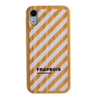 iPhone XR ケース FRAPBOIS BAMBOO(竹)ケース STRIPE WHT iPhone XR