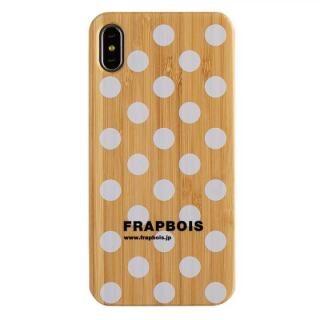 iPhone XS Max ケース FRAPBOIS BAMBOO(竹)ケース DOT WHT iPhone XS Max【8月下旬】