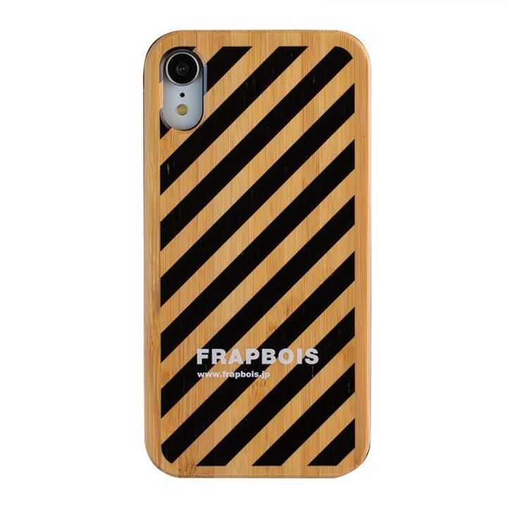 iPhone XR ケース FRAPBOIS BAMBOO(竹)ケース STRIPE BLK  iPhone XR【11月下旬】_0