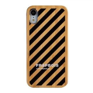 iPhone XR ケース FRAPBOIS BAMBOO(竹)ケース STRIPE BLK  iPhone XR【10月下旬】