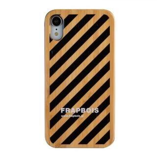 iPhone XR ケース FRAPBOIS BAMBOO(竹)ケース STRIPE BLK  iPhone XR【8月下旬】