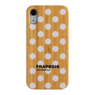 iPhone XR ケース FRAPBOIS BAMBOO(竹)ケース DOT WHT iPhone XR【8月下旬】
