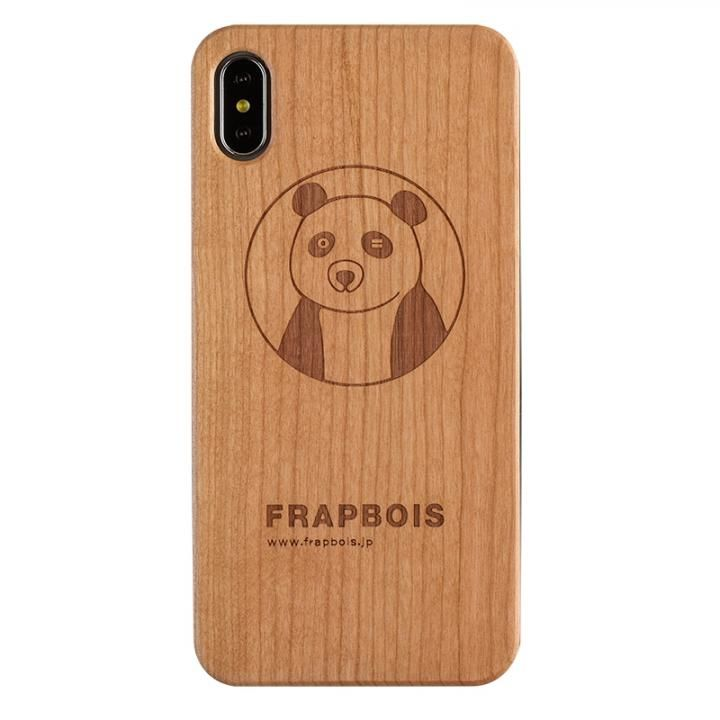 iPhone XS Max ケース FRAPBOIS A SOLID ウッドケース PANDA iPhone XS Max_0