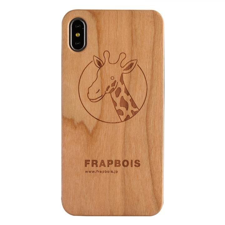 iPhone XS Max ケース FRAPBOIS A SOLID ウッドケース GIRAFFE iPhone XS Max_0