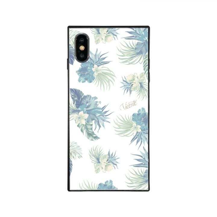 iPhone XS/X ケース Vicente VINTAGE HAWAIIAN スクエア型 ガラスケース BLU iPhone XS/X_0