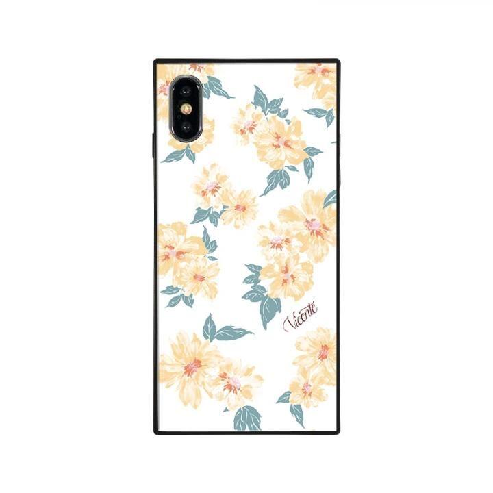 iPhone XS/X ケース Vicente DAISY 背面強化ガラスケース WHITE iPhone XS/X_0