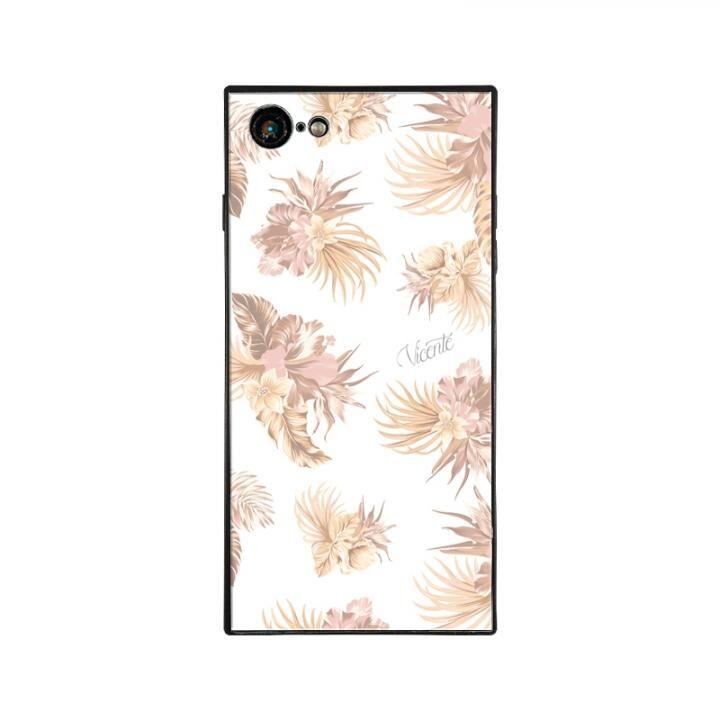 iPhone8/7 ケース Vicente VINTAGE HAWAIIAN スクエア型 ガラスケース BEG iPhone 8/7【9月下旬】_0