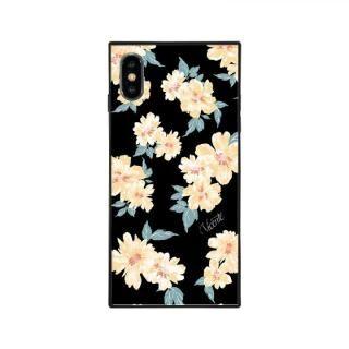iPhone XS/X ケース Vicente DAISY 背面強化ガラスケース BLACK iPhone XS/X【7月中旬】