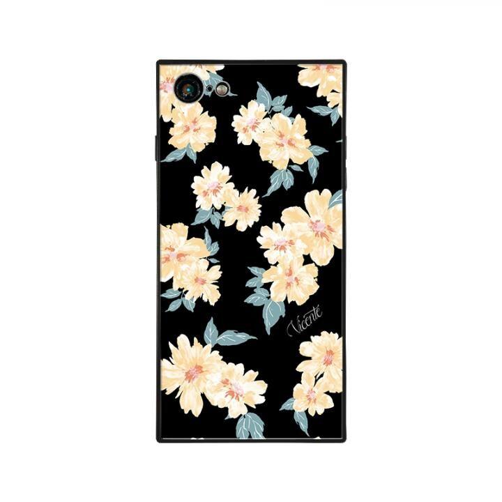 iPhone8/7 ケース Vicente DAISY 背面強化ガラスケース BLACK iPhone 8/7_0