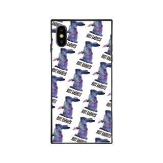 iPhone XS/X ケース MILKBOY RIOT RABBITS スクエア型 ガラスケース PTN WHT iPhone XS/X