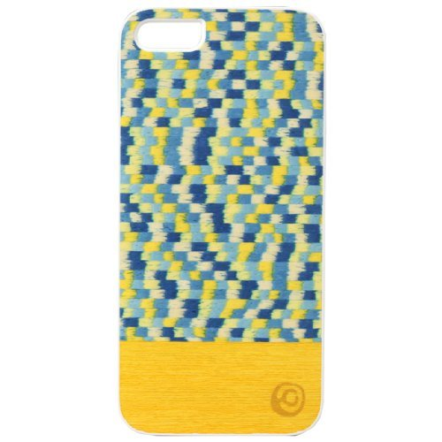 iPhone SE/5s/5 ケース 【iPhone 5s/5】Real wood case Yellow Submarine ホワイトフレーム_0