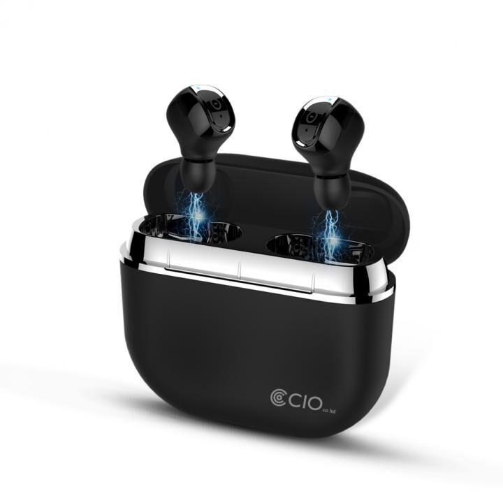 Bluetooth 5.0 防水 完全ワイヤレスイヤホン BT-EP2200 カナル型 IP67 防水 ノイズキャンセリング ブラック_0