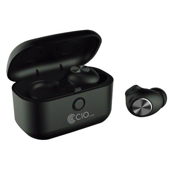 Bluetooth 5.0 防水 完全ワイヤレスイヤホン BT-EPQIA9 Qiワイヤレス充電対応 ノイズキャンセリング ブラック_0