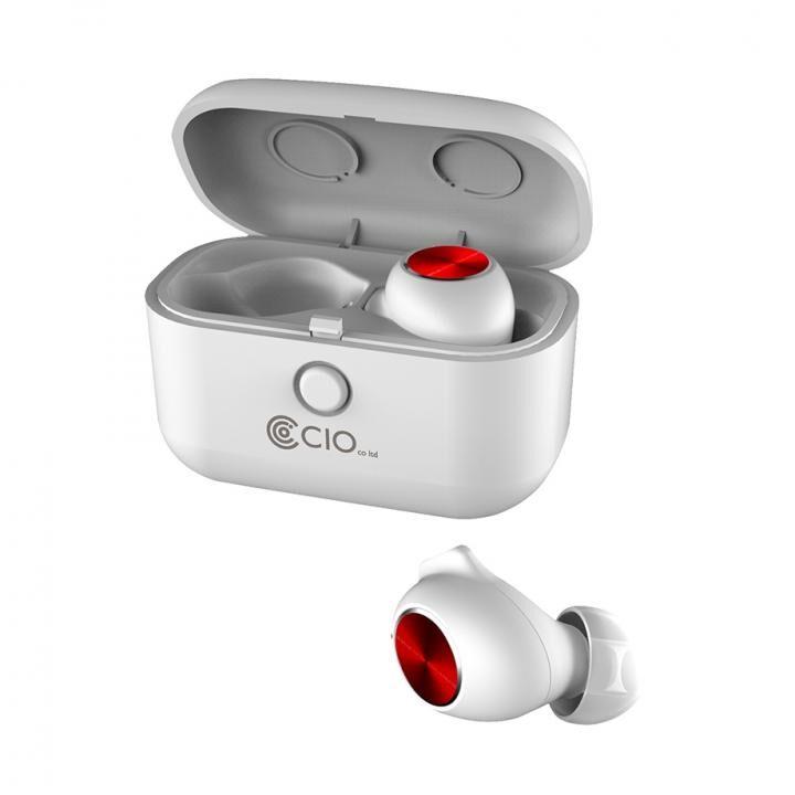 Bluetooth 5.0 防水 完全ワイヤレスイヤホン BT-EPQIA9 Qiワイヤレス充電対応 ノイズキャンセリング ホワイト_0