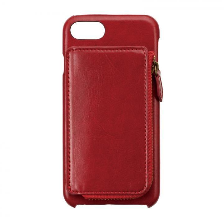 icoin コインケース付き イタリアンソフトレザーケース レッド iPhone 7/6s/6