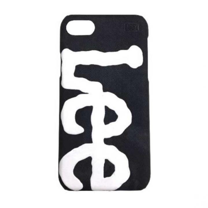 iPhone8/7/6s/6 ケース Lee デニム合皮背面ケース ブラック iPhone 8/7/6s/6_0