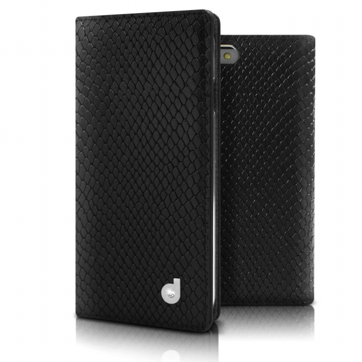 iPhone6s/6 ケース DreamPlus シークレットポケットお財布 牛革手帳型ケース ブラック iPhone 6s/6_0