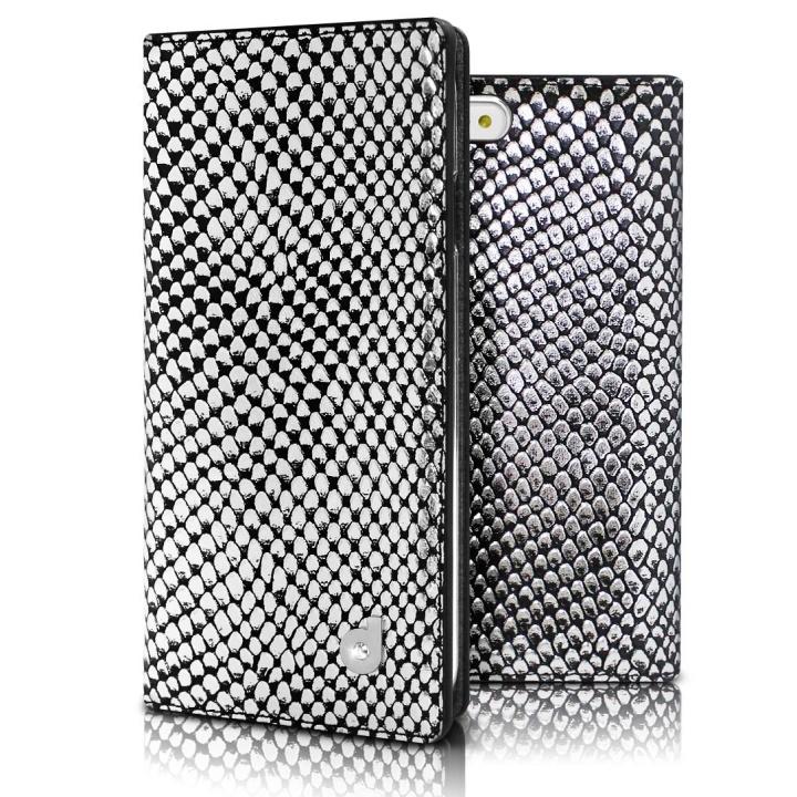 iPhone6s/6 ケース DreamPlus シークレットポケットお財布 牛革手帳型ケース シルバー iPhone 6s/6_0