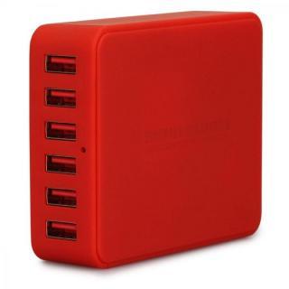TUNEWEAR TUNEMAX 6ポート 最大2.5A、合計9A USB充電器 ACアダプタ ー レッド
