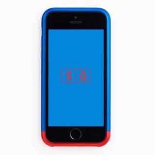 iPhone SE/5s/5 ケース 超々ジュラルミンA7075 ツートンカラー バンパー ブルー*レッド iPhone SE/5s/5バンパー