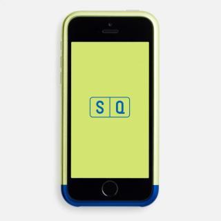 超々ジュラルミンA7075 ツートンカラー バンパー ライム*ブルー iPhone SE/5s/5バンパー