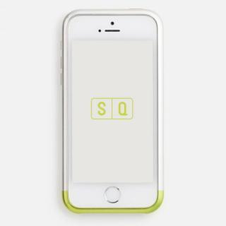 iPhone SE/5s/5 ケース 超々ジュラルミンA7075 ツートンカラー バンパー シルバー*ライム iPhone SE/5s/5バンパー