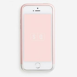 超々ジュラルミンA7075 ツートンカラー バンパー ピンク*シルバー iPhone SE/5s/5バンパー