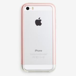 超々ジュラルミンA7075 ツートンカラー バンパー ピンク*シルバー iPhone 5s/5バンパー?送料無料