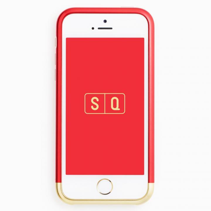 【iPhone SE/5s/5ケース】超々ジュラルミンA7075 ツートンカラー バンパー レッド*ゴールド iPhone SE/5s/5バンパー_0
