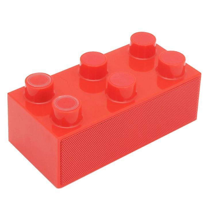 載せるだけで鳴る!スマートフォンスピーカー「BrickS」 レッド