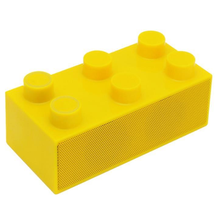 載せるだけで鳴る!スマートフォンスピーカー「BrickS」 イエロー_0
