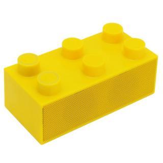 載せるだけで鳴る!スマートフォンスピーカー「BrickS」 イエロー
