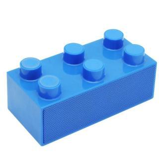 載せるだけで鳴る!スマートフォンスピーカー「BrickS」 ブルー