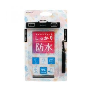 iPhone XR/XS Max ケース スマートフォン用 防水ケース オールクリアタイプ  ブラック【12月下旬】