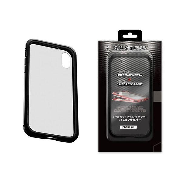 iPhone XR ケース アルミバンパー 360STRONG ブラック iPhone XR_0
