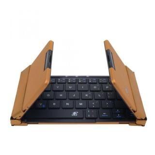 3E 3E-BKY7-BB Bluetooth キーボード 【TENPLUS】 3つ折りタイプ ブラック×ブラウンゴールド ケース付属【6月下旬】