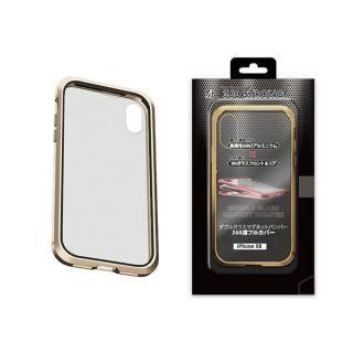 iPhone XR ケース アルミバンパー 360STRONG ゴールド iPhone XR