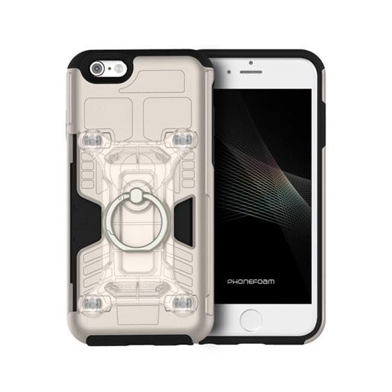 【iPhone6s/6ケース】磁気エラー防止シート付属 PhoneFoam FURY リング版 シャンパンゴールド iPhone 6s/6_0