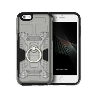 iPhone6s/6 ケース 磁気エラー防止シート付属 PhoneFoam FURY リング版 ダークシルバー iPhone 6s/6